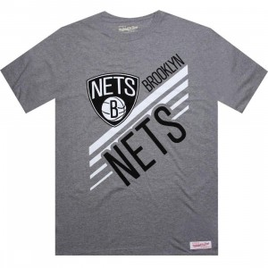 Mitchell And Ness Brooklyn Nets  Blank Tee (athletic heather)