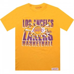 Mitchell And Ness Los Angeles Lakers Blank Tee (gold)