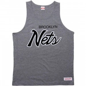 Mitchell And Ness Brooklyn Nets Copy Of Blank Tank Top (athletic grey)