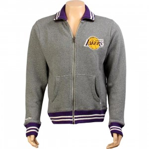 Mitchell /& Ness Los Angeles Lakers Black Preseason Warmup Track Jacket