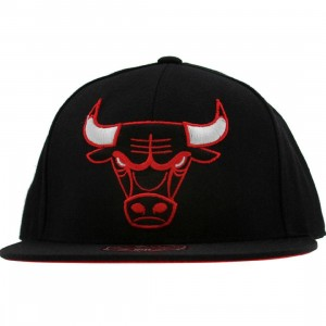 Mitchell And Ness Chicago Bulls NBA XI Vintage Logo Fitted Cap (black)