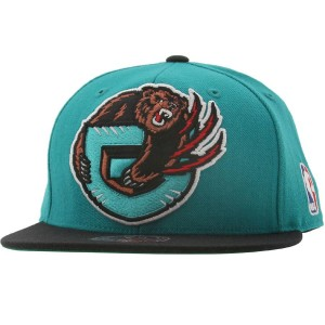 Mitchell And Ness Memphis Grizzlies FSO1 Wool Fitted Cap (teal / black)