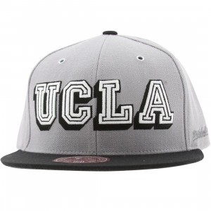 Mitchell And Ness UCLA Bruins FS01 Wool Fitted Cap (silver / black)