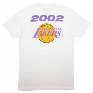Mitchell And Ness Men NBA Los Angeles Lakers Finals 2002 Tee (white)