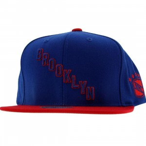 Mitchell And Ness Brooklyn Americans Retro Snapback Cap (blue / red)