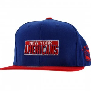 Mitchell And Ness New York Americans Retro Snapback Cap (blue / red)