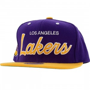 Mitchell And Ness Los Angeles Lakers 2 Tone Snapback Cap (purple / yellow)