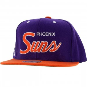 Mitchell And Ness Phoenix Suns 2 Tone Snapback Cap (purple / orange)
