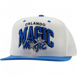 Mitchell And Ness Orlando Magic White 2 Tone Snapback Cap (white / light blue)