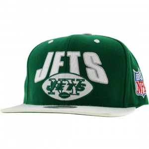 Mitchell And Ness New York Jets Retro Snapback Cap (green / white)