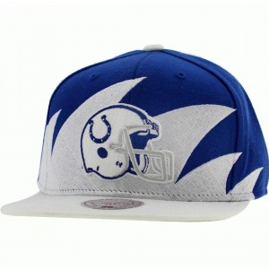 Mitchell And Ness Baltimore Colts Sharktooth Wool Snapback Cap (blue / white)