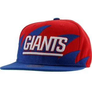 Mitchell And Ness New York Giants Wool Snapback Cap (red / blue)