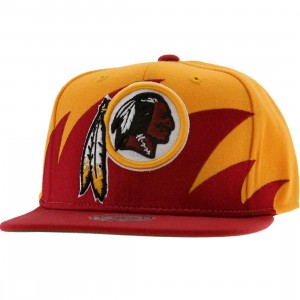 Mitchell And Ness Washington Redskins Wool Snapback Cap (yellow / red)