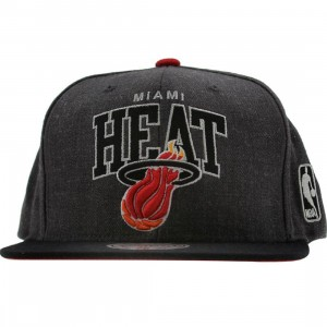 Mitchell And Ness Miami Heat NBA Arch With Logo G2 Snapback Cap (charcoal)