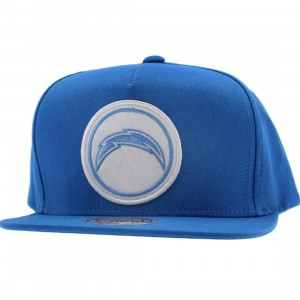 Mitchell And Ness San Diego Chargers NFL Cotton Novelty Patch Pinch Snapback Cap (blue)
