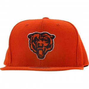 Mitchell And Ness Chicago Bears NFL Throwback Snapback Cap (orange)