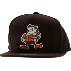 Mitchell And Ness Cleveland Browns NFL Throwback Snapback Cap (brown)