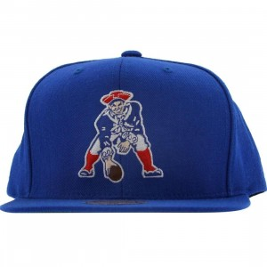 Mitchell And Ness New England Patriots NFL Throwback Snapback Cap (blue)