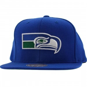Mitchell And Ness Seattle Seahawks NFL Throwback Snapback Cap (blue)