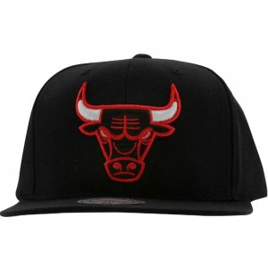 Mitchell And Ness Chicago Bulls NBA Wool Solid Snapback Cap (black)