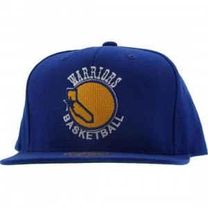 Mitchell And Ness Golden State Warriors NBA Wool Solid Snapback Cap (blue)