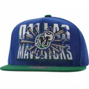 Mitchell And Ness Dallas Mavericks Backboard Breaker Snapback Cap (royal / green)