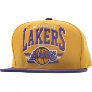 Mitchell And Ness Los Angeles Lakers Stadium Snapback Cap (gold / purple)