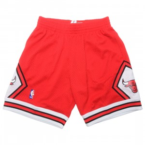 Mitchell And Ness x NBA Men Swingman Road Shorts - Chicago Bulls 97-98 (red)