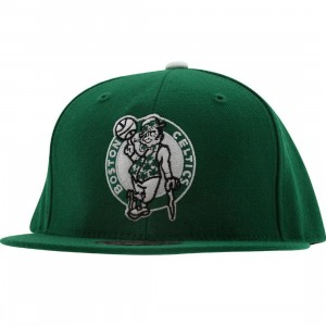 Mitchell And Ness Boston Celtics Basic Fitted Cap (green)