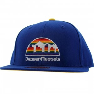 Mitchell And Ness Denver Nuggets Basic Fitted Cap (blue)