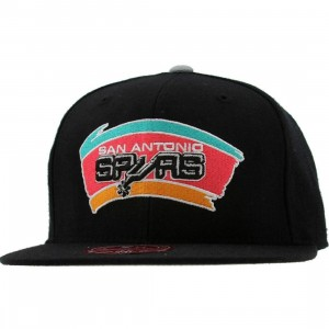 Mitchell And Ness San Antonio Spurs NBA HWC Alternate 2 Fitted Cap (black)