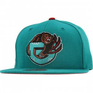 Mitchell And Ness Vancouver Grizzlies NBA HWC Alternate 2 Fitted Cap (teal)