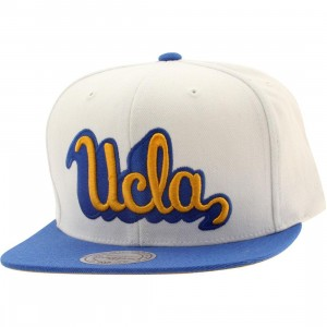 Mitchell And Ness UCLA Gold Script Snapback Cap (white / gold)