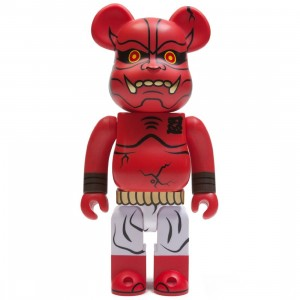Medicom Akaoni Shinobu 400% Bearbrick Figure (red)
