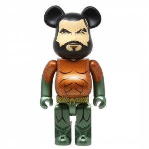 Medicom Aquaman 400% Bearbrick Figure (gold)
