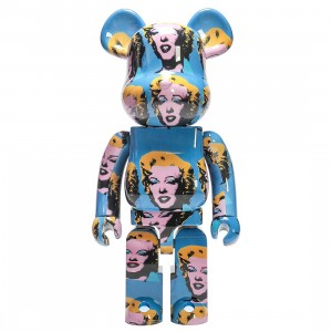 Medicom Andy Warhol Marilyn Monroe 1000% Bearbrick Figure (blue)