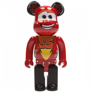 Medicom Disney Pixar Cars Lightning McQueen 400% Bearbrick Figure (red)