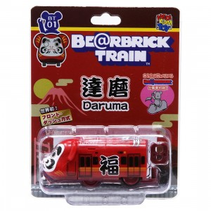 Medicom Daruma Bearbrick Train Figure (red)