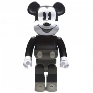 Medicom Disney Mickey Mouse Black And White Ver 1000% Bearbrick Figure (black / white)