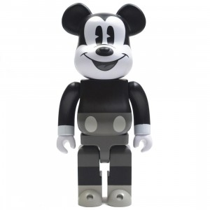 Medicom Disney Mickey Mouse Black And White Ver 400% Bearbrick Figure (black / white)