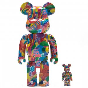 Medicom Dylan's Candy Bar 100% 400% Bearbrick Figure Set (multi)