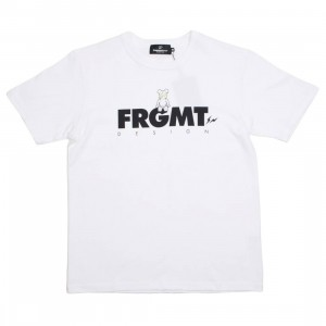 Medicom x Fragment Design Men Be@rtee FRGMT Logo 2019 Tee (white)