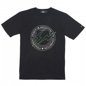 Medicom x Fragment Design Men Circle Logo Be@rtee Tee (black)