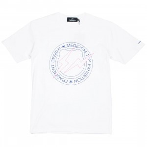 Medicom x Fragment Design Men Circle Logo Be@rtee Tee (white)