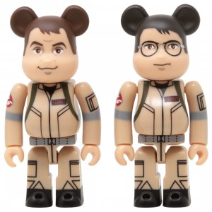 Medicom Ghostbusters Raymond Stantz And Egon Spengler 100% 2 Pack Bearbrick Figure Set (tan)