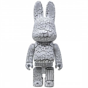 Medicom Karimoku White Birch Style White Paint 400% Rabbrick Figure (white)