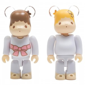 Medicom Little Twin Stars Kiki And Lala Retro Color Ver. 100% Bearbrick Figure 2 Pack Set (white)