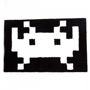 Medicom Fabrick 25th Space Invaders Design D Rug (black)