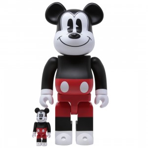 Medicom Disney Mickey Mouse RW 2020 Ver. 100% 400% Bearbrick Figure Set (red)