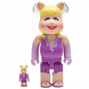 Medicom Meet the Muppets Miss Piggy 100% 400% Bearbrick Figure Set (purple)